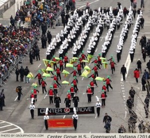 Center Grove High School Marching Band (Macy's Day Parade, 2014). Photo by Groupphotos.com.